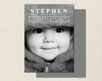Birth Announcement Photography Template - 0007 - Photoshop Template