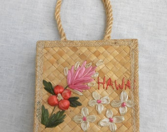 Vintage Woven Purse from Hawaii 1960s