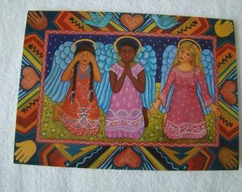 Faith, Hope & Charity Notecard by Diana Bryer, Angels