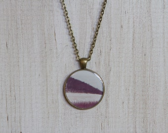 Abstract Geometric Pendant Necklace | Art Jewelry | Earth Tones | Antique Bronze | Wearable Art Photography