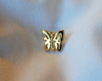 Butterfly Tack Pin Gold Finish Cross