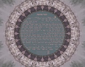 Jerusalem ketubah- print reference 1130-custom included- various colors and dimensions