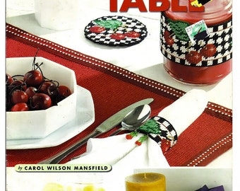 For The Table  Plastic Canvas Pattern American school of Needlework 3218
