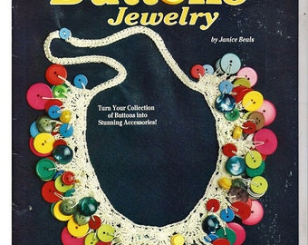 Crochet Buttons Jewelry Pattern Book  From Suzanne McNeill Design Originals No. 2429