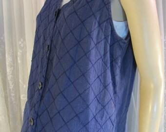 Vintage 90's women's Ivy purple linen vest top size M