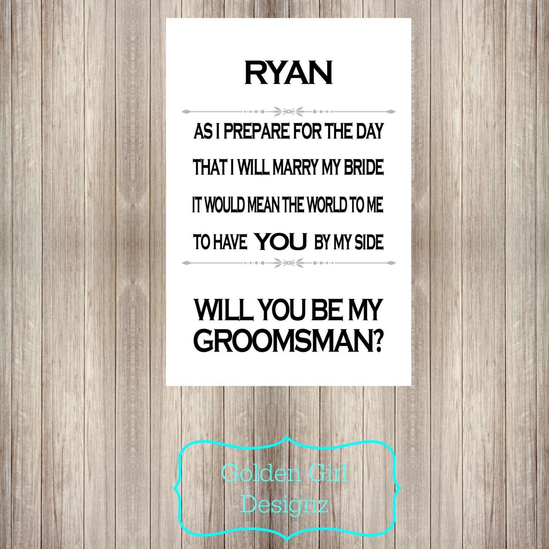 Groomsman Invitation Cards is adorable invitation template
