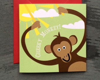 A Cheeky Monkey Card