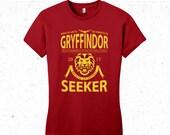 Harry Potter t-shirt women's - Gryffindor Quidditch tshirt - Sports team logo