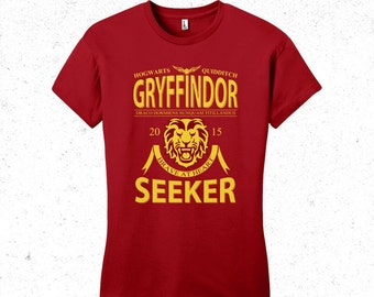 Harry Potter t-shirt women's - Gryffindor Quidditch tshirt - Sports team logo