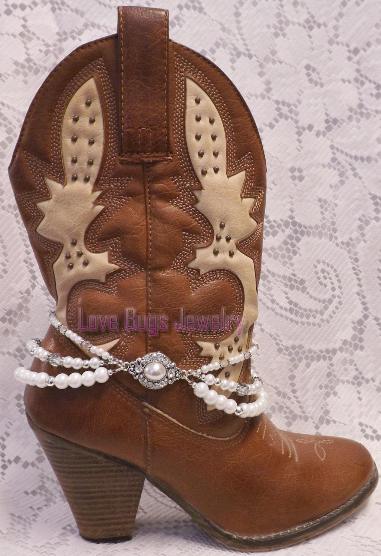 bridal rhinestone boot jewelry boot bracelet