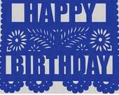 Happy Birthday/Special Occasion Papel Picado Banner