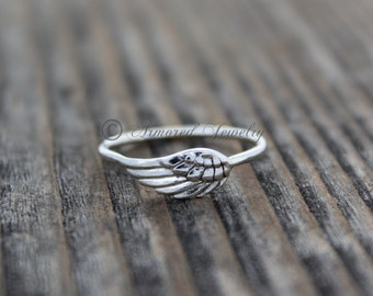 Angel Wing Ring 4 - Sterling Silver Angel feather wing ring - Delicate - Dainty - Simple - Religious - Heaven - Handmade jewelry ring