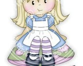 Digi Stamp 'Jodie in Wonderland'  - Greetings Cards. Invitations etc