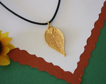 SALE Leaf Necklace, Gold Evergreen Leaf, Real Evergreen Leaf Necklace, Gold Leaf Pendant,SALE126