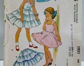 1950's McCalls 1931 Childs Full or Half Slip Pattern Tiered Shoulder Straps Crinoline Toddlers Girls Vintage Sewing Size 8