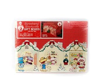 Vtg Strawberry Shortcake & Friends 2 Gift Boxes