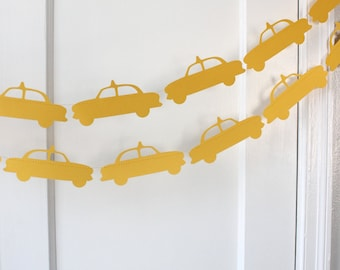 Taxi Cab New York Paper Garland - 10 Feet