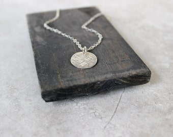 Silver Circle Necklace, Sterling Silver Necklace, Minimalist Necklace, Handmade Necklace, Geometric Necklace