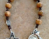 Divine Mercy Rosary, First Communion Olive Wood Rosary, Catholic Tenner, One Decade Chaplet, Pocket Rosary, Confirmation Gift Idea