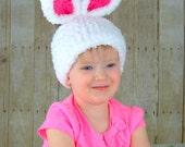 Fluffy White Easter Bunny Hat