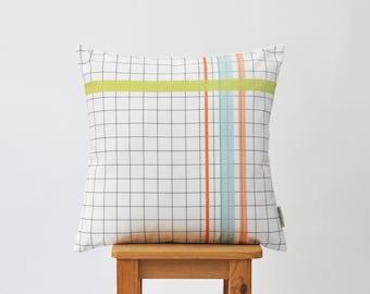 """Grid Pillow, Geometric Pillow, Decorative Pillow, Nursery Pillow, Kids Pillow, Throw Pillow, Modern Cushion Cover 16"""" x 16"""""""