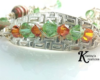 Textured Fine Silver Bracelet