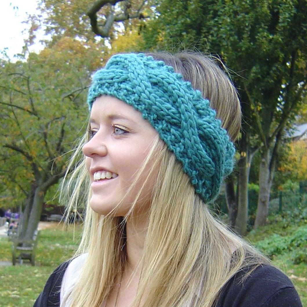 Knitting pattern cable headband ear warmer easy beginner knit zoom bankloansurffo Images