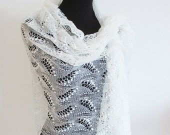 Estonian lace shawl, Wedding Shawl, hand knit lace, bridal lace shawl