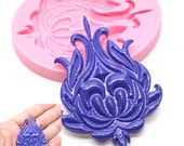 Ornate Fancy Scrollwork Medallion Silicone Mold 722m* Fondant Royal icing Cake Decorating Fondant Gumpaste Chocolate Meltes BEST QUALITY
