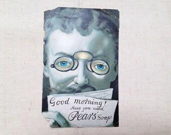 Paper Bookmark - Pear's Soap Bookmarker - UK - 1890's