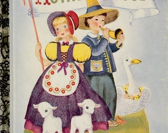Mother Goose (Golden Book) selected by Phyllis Fraser, illustrated by Miss Elliott