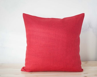 Red pillow cover - throw pillows - pillows with red-cushion case - throws - sham 0003