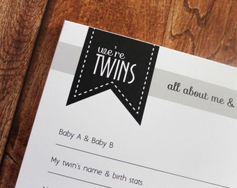 ON SALE: Twins Sibling Page