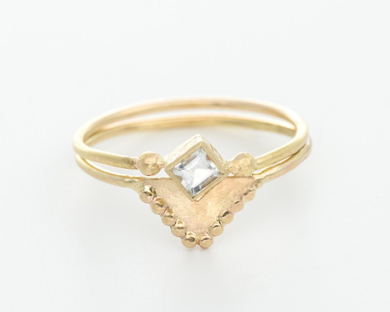 moonstone wedding ring set moonstone wedding ring sets moonstone wedding ring set image