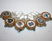 Notre Dame Wine Charms - Set of 6