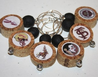 Florida State Wine Charm Set of 6