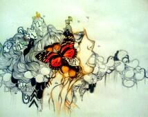 Art Print - Poster Print - Pop surrealism art print - Wall Art - Giclee art print - Large art print - Abstract portrait