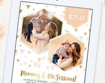 Mommy and Me Mini Session Template, Mommy and Me Template, Mini Session Template, Photography Marketing Template, Marketing Board AD178