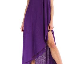 1970s Vintage Glamorous Royal Purple Dress Size: XS/S