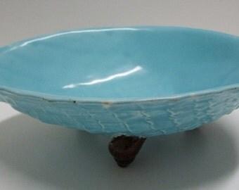 19th Century Holdcroft Majolica Shell Bowl