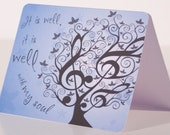 It Is Well with  My Soul, blank notecard