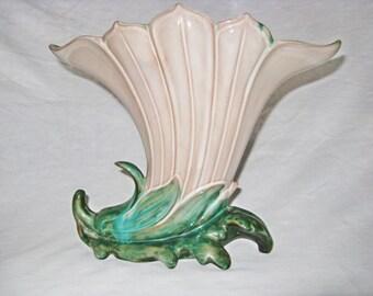 Vintage Stangl Terra Rose Art Deco Two-Tone Vase #3675