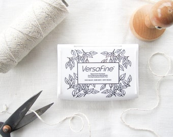 Tsukineko VersaFine Ink Pad - Fine Detail Ink Pad - Stamp Pad - Rubber Stamp Pad - Black Ink Pad - Gray Ink Pad - Sepia Ink Pad