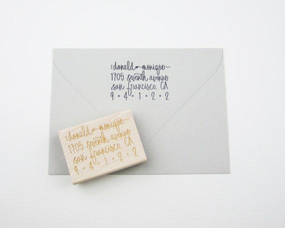 Custom Address Stamp - return address stamp - address stamp - personalized - calligraphy address stamp - hand lettered A0004