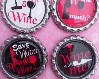Wine Bottle Cap Magnets