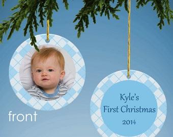 Personalized Baby Photo Ornament Keepsake