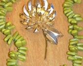 Large Vintage Chrysanthemum Pin~ Gorgeous~ Late 50s/ Early 60s Modernist