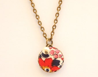 Liberty of London Dainty Pendant Necklace in Betsy Ann Red