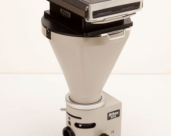 Polaroid Back on Nikon Microscope Camera Mount with Leaf Shutter - STEAMPUNK OPTICAL PROJECT