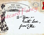 Digital Download Valentine Post Card to send, text, email someone you love on February 14